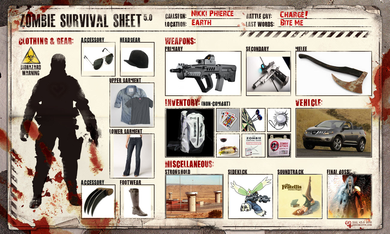 zombie survival essay Weapons, scavenging, and finding groups to join are all smart things to do, and necessary to survival as stated in the article how to survive a zombie apocalypse: a beginners guide but in the article top 5 places to hide out during the zombie apocalypse, it stresses just how important it is to find a safe and defendable shelter.