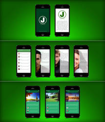 iPhone App UI by ahmedcomap