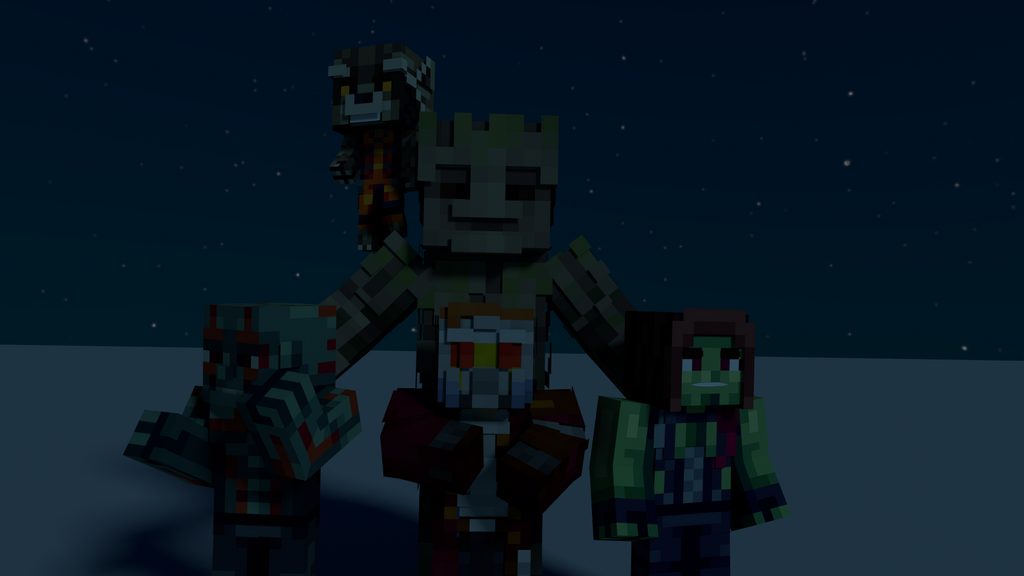 Minecraft Gaurdians of the Galaxy Render by Woodchopper09