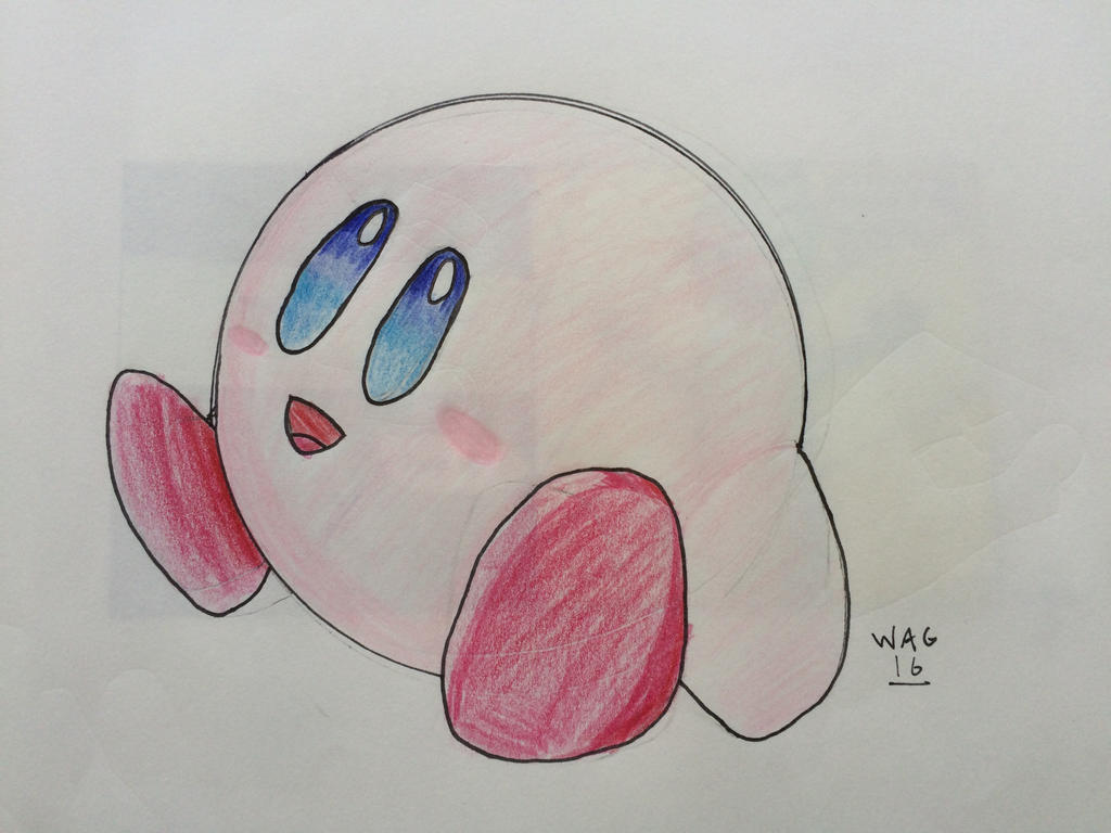 Kirby (SSB4) by Woodchopper09