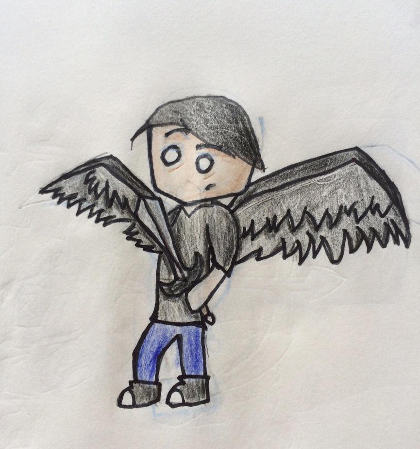 Archangel half-demon half-angel guy, or something by Woodchopper09