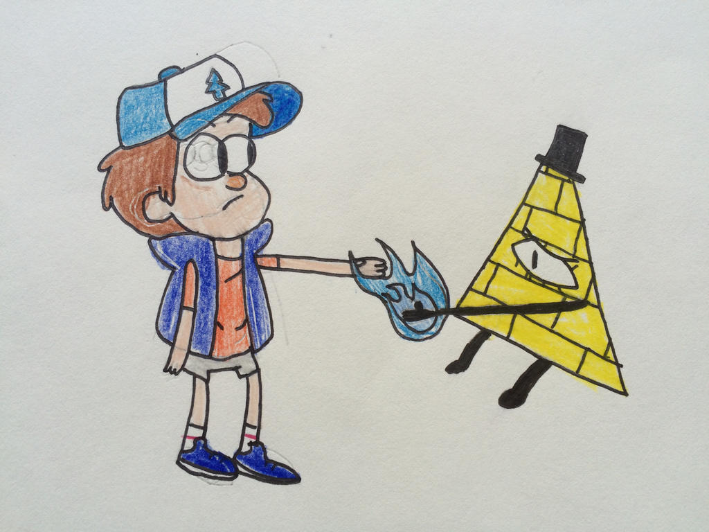 Dipper making a deal with Bill by Woodchopper09