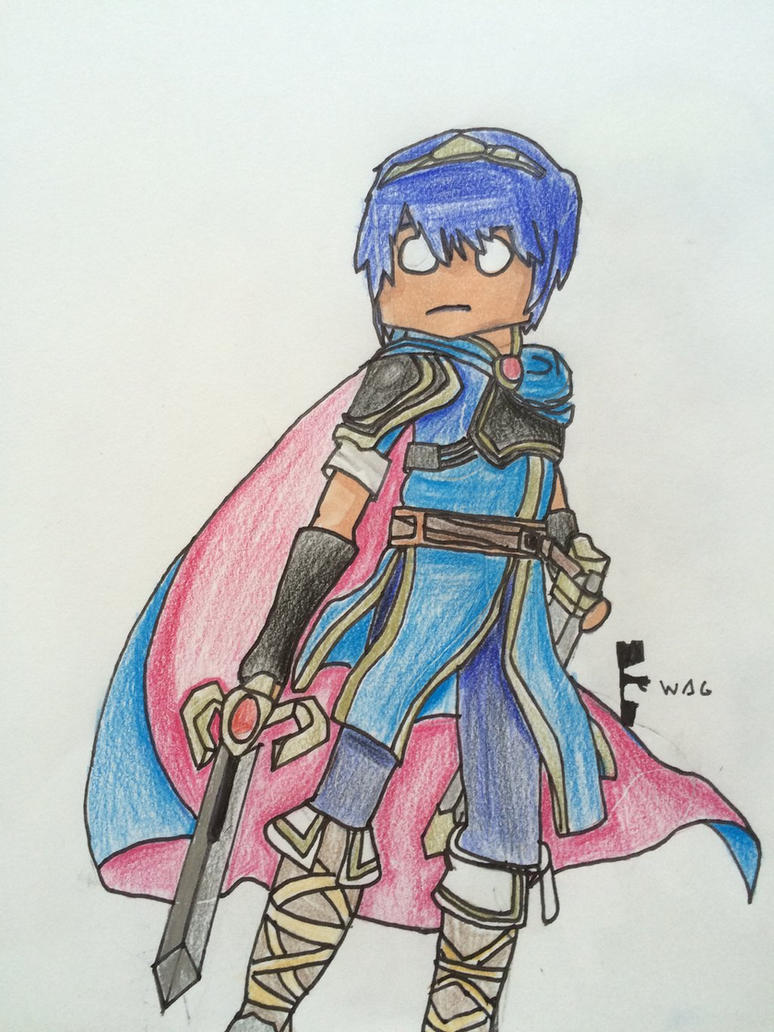 Marth (SSB4) by Woodchopper09