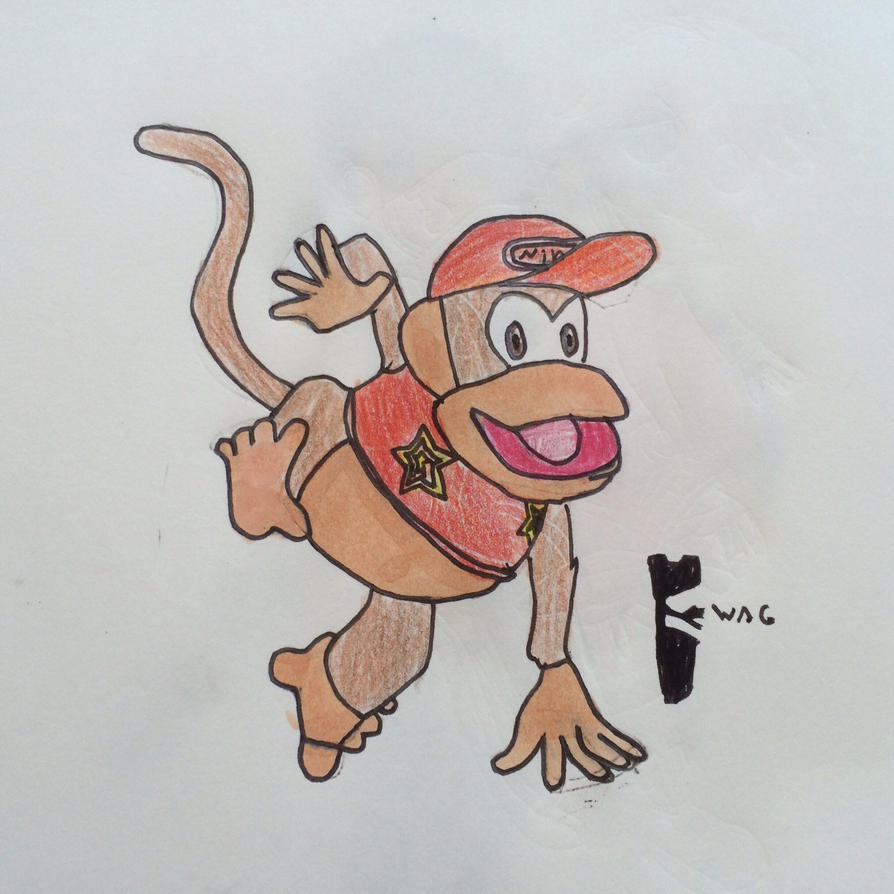 Diddy Kong (SSB4) by Woodchopper09
