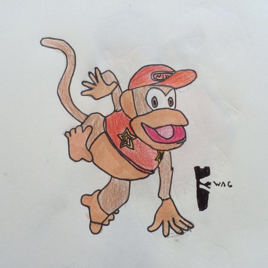 Diddy Kong (SSB4) by Woodchopper09