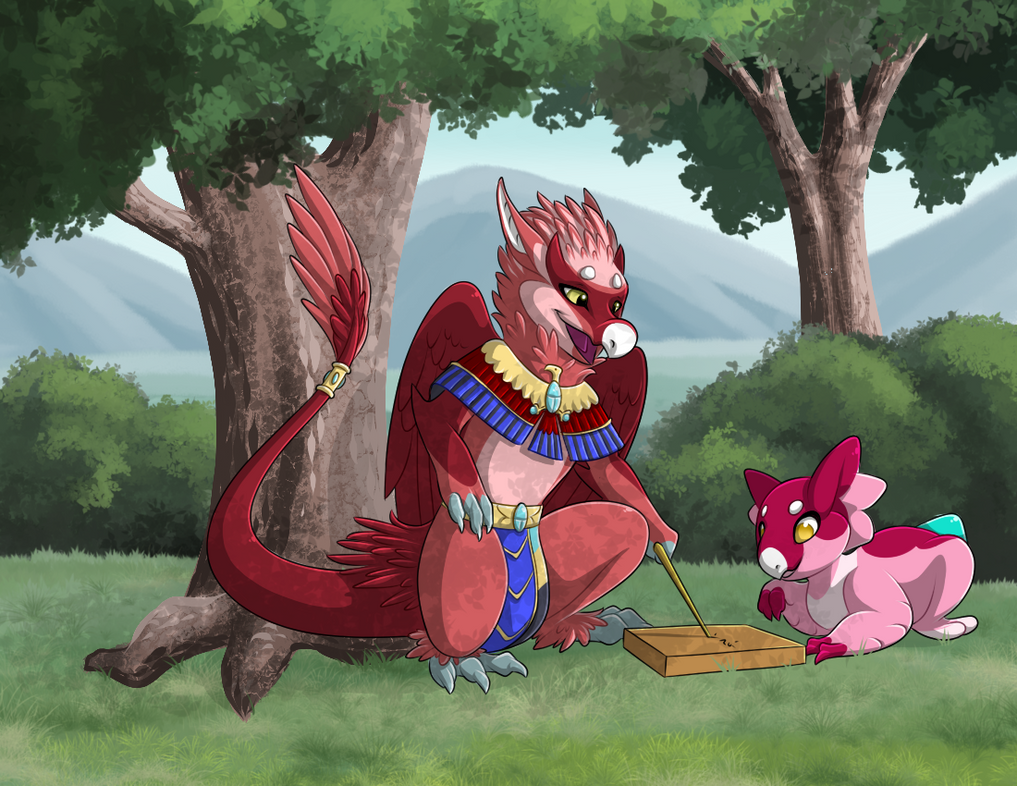 Calligraphy Lesson by Ascynd