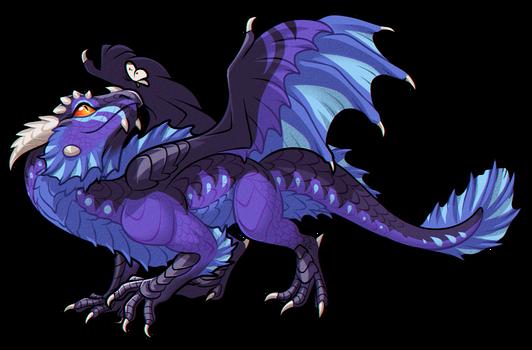 Blue Sulfur Firethorn Dragon [CLOSED]