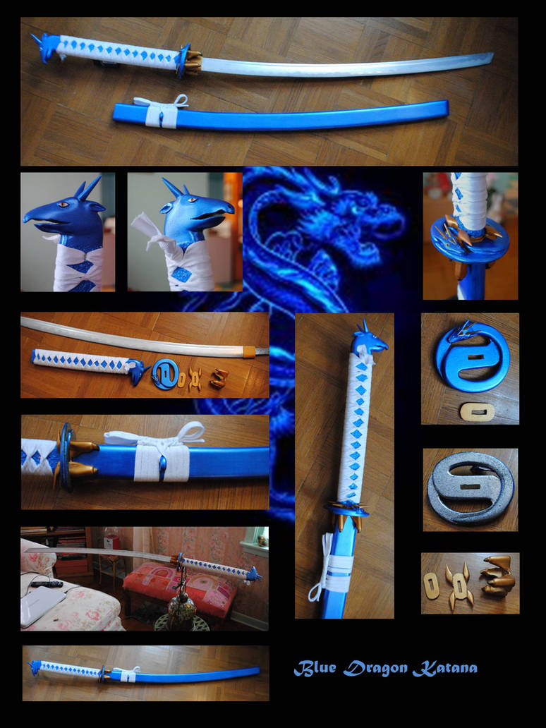 Blue Dragon Katana