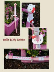 Hello Cosplay Kitty Katana by fixinman