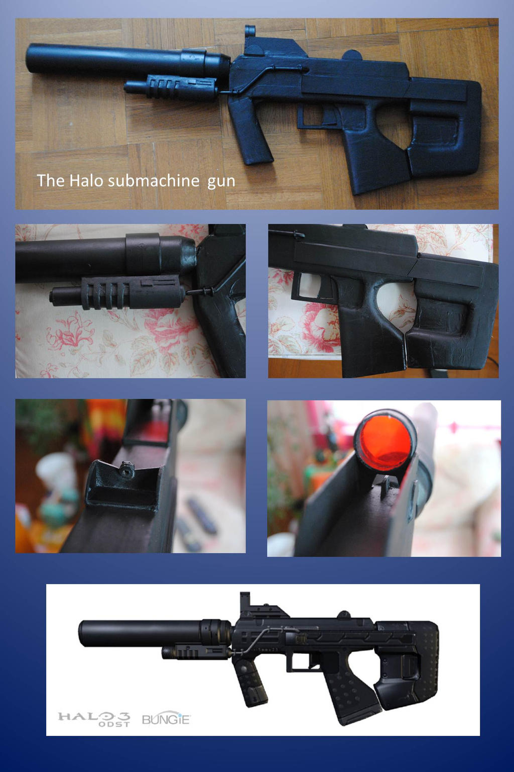Halo M-7 Submachine gun by fixinman