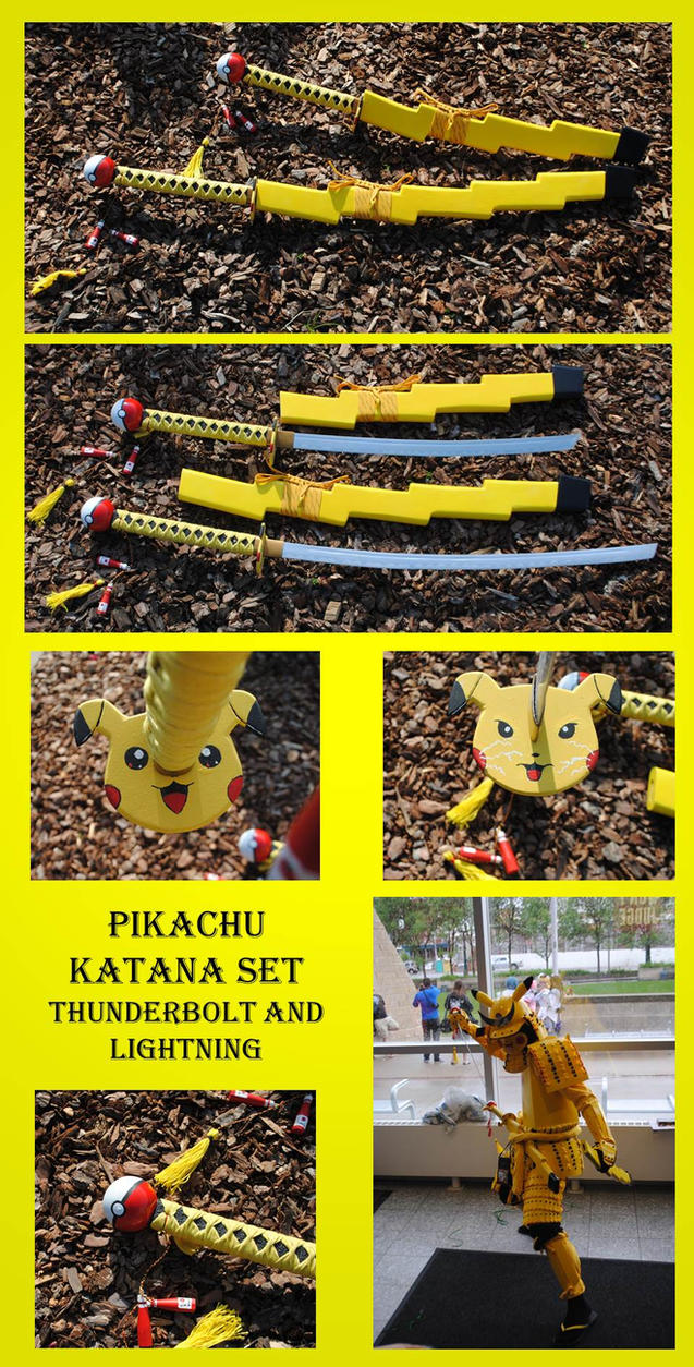 Pikachu Katana Set by fixinman