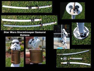 Star Wars Stormtrooper Samurai Katana by fixinman