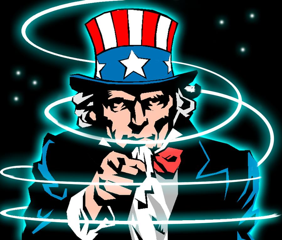 Uncle Sam Glowing by Hypherius241