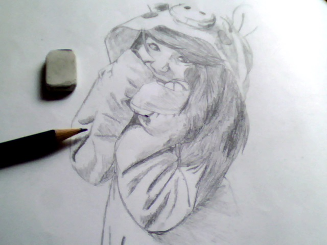pencil drawing 2 (my girlfriend) by Pandito-graphics on DeviantArt