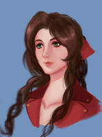 Aerith Painting Practice by Mistery12