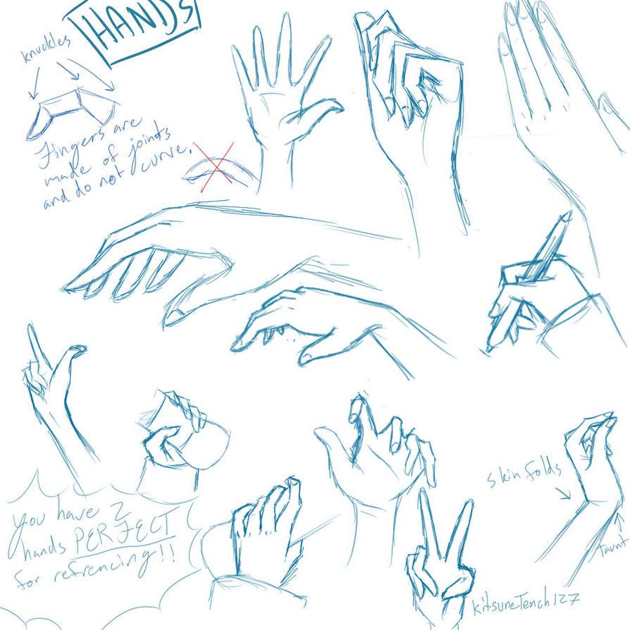 Hand Sketches By Gypia On DeviantArt