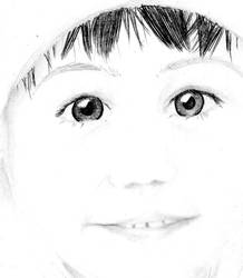 Little Girl Face Sketch by sexykisa