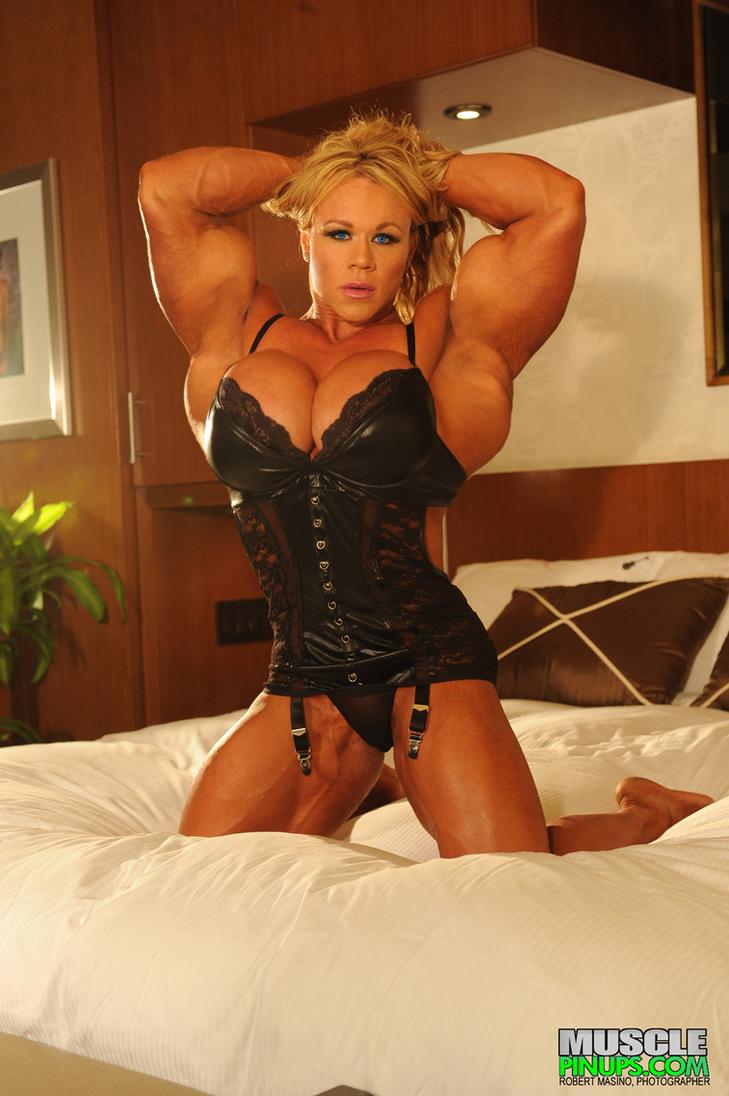 Huge fbb flexing biceps and pecs 9