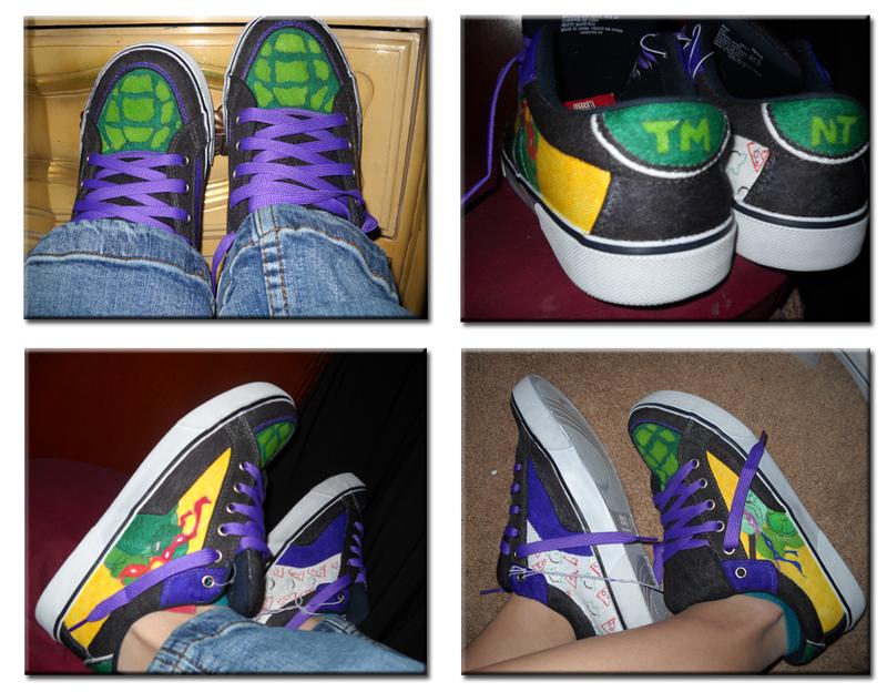 Shoe Design 01- Ninja Turtles by LimeGeen