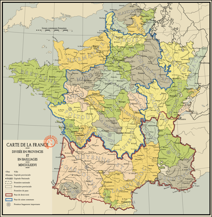 Map Of The Kingdom Of France By Nanwe On DeviantArt - France provinces map