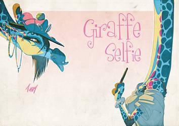 Giraffe Selfie by Tursy