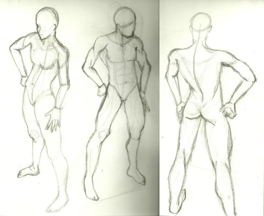 Fashion model sketch template male