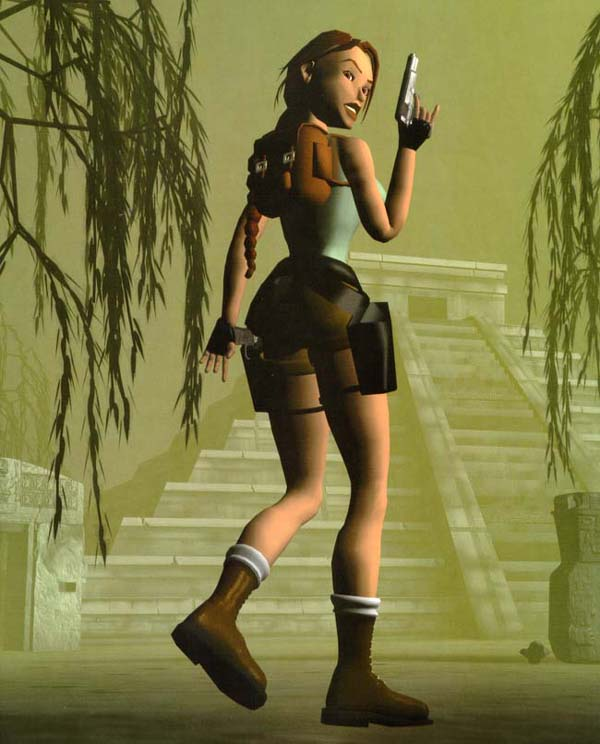 Tomb Rider Wallpaper: Side View Render Of Classic Lara Croft?
