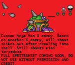 Mega Man X Fan Made Enemy Sprite.
