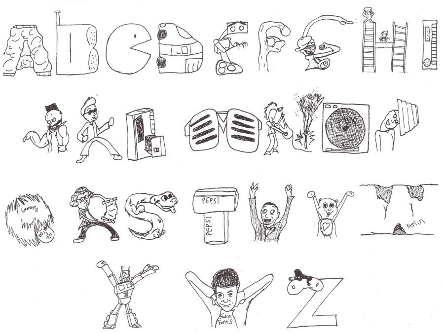 the abcs of the  u0026 39 80s by nwolfman on deviantart