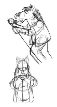 Breaking Bojack doodles