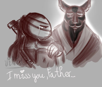 I Miss You Father Tmnt 2012 Leo And Splinter By Vikigyt On
