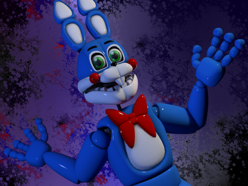 Stileised Toy Bonnie by bluthesnowleopord