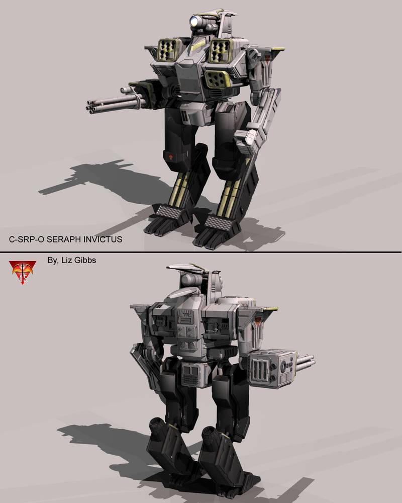 Battletech / MechWarrior C-SRP-O SERAPH INVICTUS by lady-die
