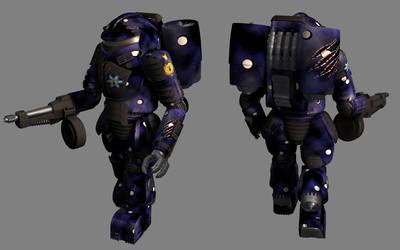 Battletech / MechWarrior Jump Elemental by lady-die