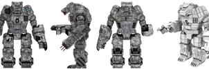 Battletech / MechWarrior Clan Ghost Bear - Kodiak by lady-die