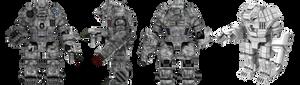 Battletech / MechWarrior Clan Ghost Bear - Kodiak