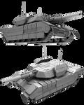 Battletech / MechWarrior Patton/Rommel Tank by lady-die