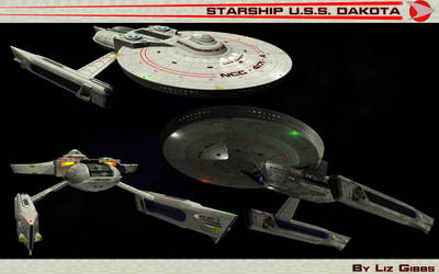 Starship U.S.S. Dakota NCC 4171-A by lady-die