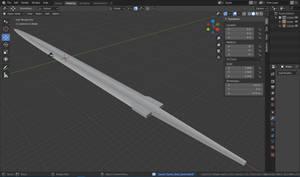 Learning Blender: Geralt's Steel Sword WIP 2