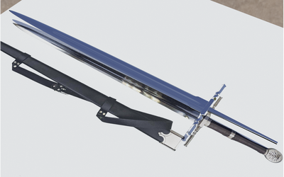 Learning Blender: Geralt's Steel Sword WIP 5