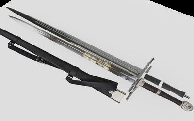Learning Blender: Geralt's Steel Sword WIP 6