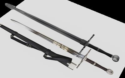 Learning Blender: Geralt's Steel Sword WIP 8