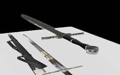 Learning Blender: Geralt's Steel Sword WIP 9