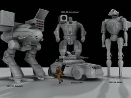 Battletech / MechWarrior Mesh Render 1 by lady-die