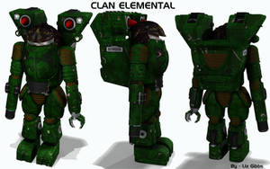 Battletech / MechWarrior Clan Elemental by lady-die