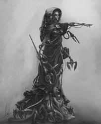 Dark Mechanicum priest from Cyclothrathe by Nictanova