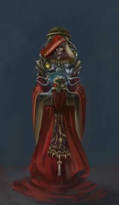 Techpriest with Skull of Elder Nikola