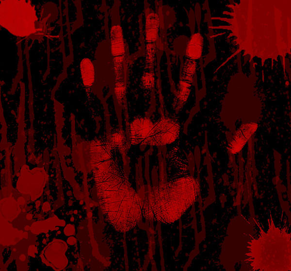 bloody handprint by severthefallen on deviantart