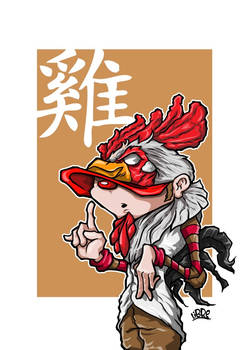 Zodiac Series Rooster