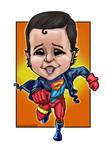 Superboy-caricature-purelibre